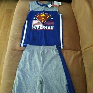 Boy's Summer Superman 2-piece outfit